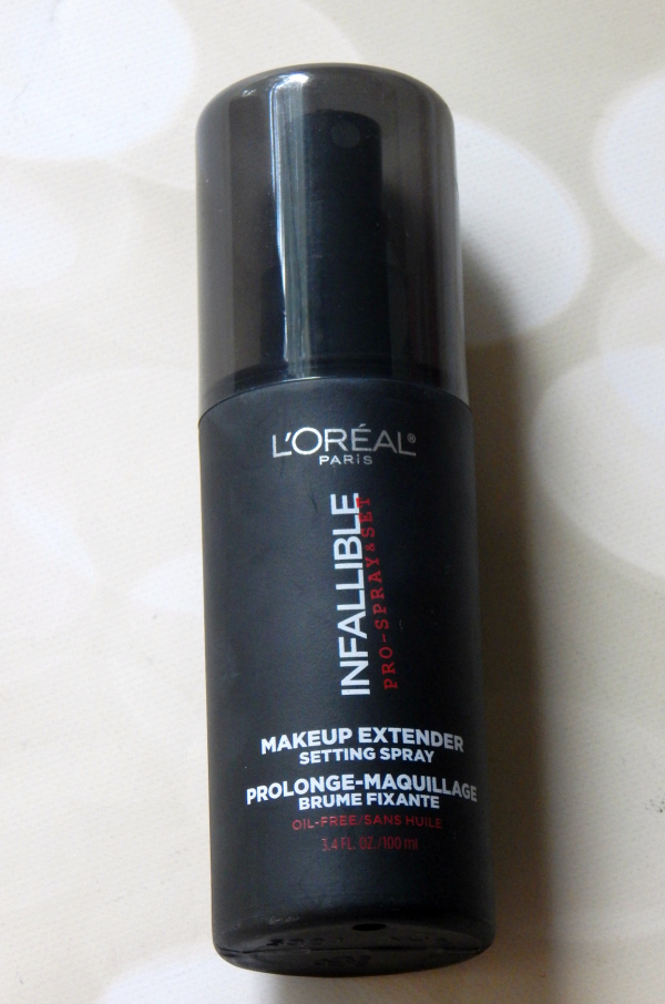 L'Oreal Infallible Setting Spray #beauty #beautyblogger #bblogger #cosmetics #beautyreview #loreal
