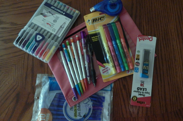 What's In My Backpack Writing Instruments #schoolsupplies #bic #staedtler #papermate