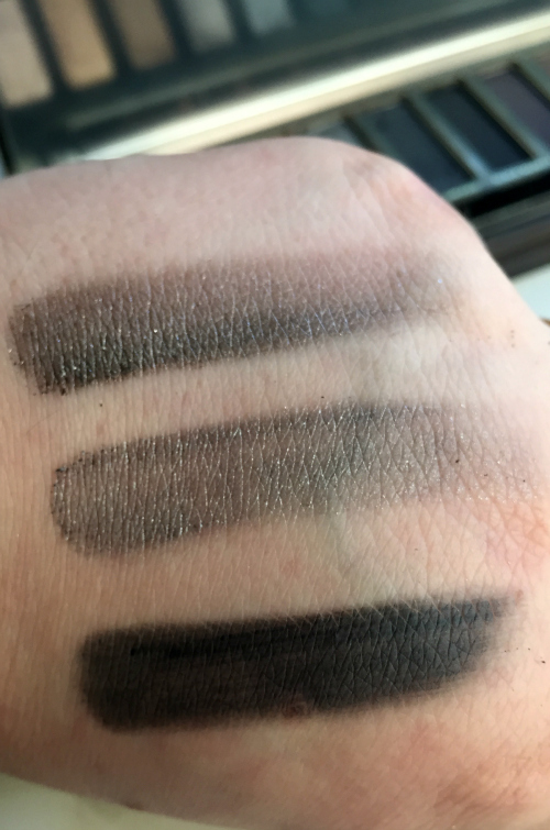 Urban Decay Naked Smoky Palette Armor, Slanted, and Dagger Swatches #beauty #bbloggers #cosmetics #urbandecay