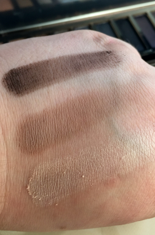 Urban Decay Naked Smoky Palette Whiskey, Combust, and Thirteen Swatches #beauty #bbloggers #cosmetics #urbandecay