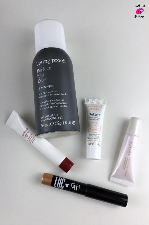 November GlamLifeGuru Birchbox Contents #beauty #bbloggers #birchbox #glamlifeguru #TatiXBirchbox #livingproof #avene #loc #jouer #shiseido