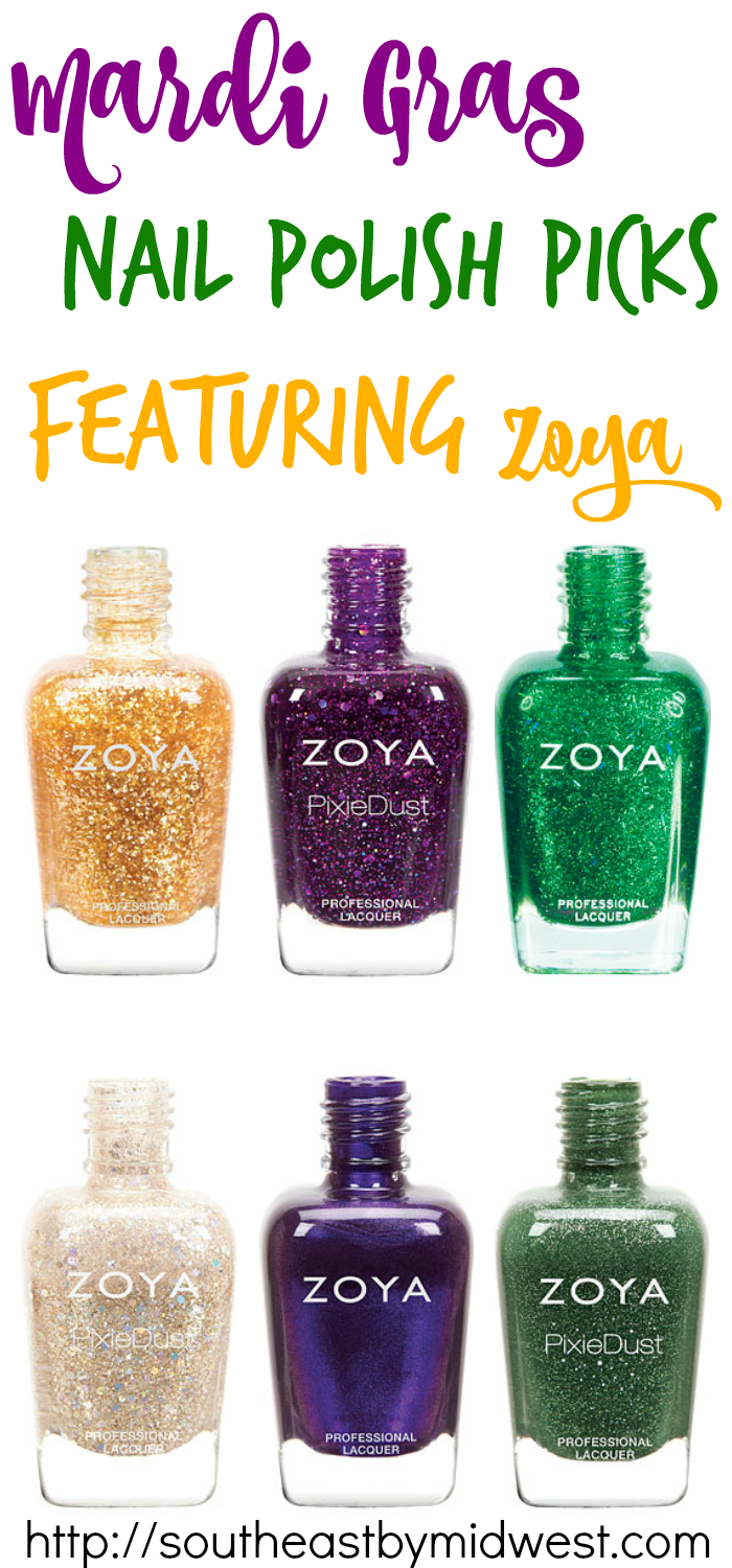 Mardi Gras Nail Polish Picks featuring Zoya #beauty #bbloggers #nailpolish #zoya #mardigras