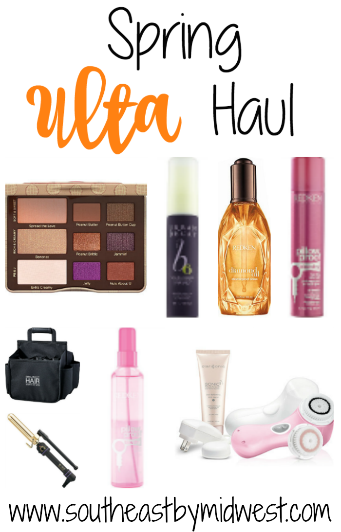 Spring Ulta Haul || Southeast by Midwest #beauty #bbloggers #ulta #haul #toofaced #urbandecay #redken #clarisonic #hottools