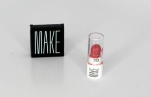 MAKE Beauty Silk Cream Lipstick and Matte Finish Eyeshadow