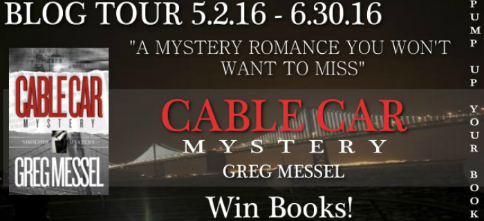 Cable Car Mystery by Greg Messel Featured Image || Southeast by Midwest #literary #books #bookreview #cablecarmystery #gregmessel