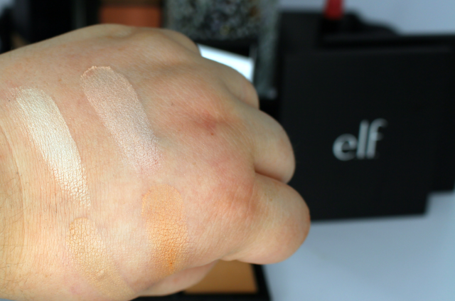 e.l.f. Face Palettes Illuminating Palette Swatches || Southeast by Midwest #beauty #bbloggers #elf #playbeautifully
