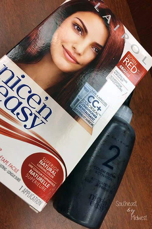 Clairol Nice 'n Easy At Home Hair Color Product || Southeast by Midwest #beauty #bblogger #haircolor #ColorConfidently #NicenEasy #sponsored