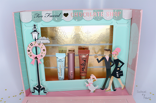 Too Faced Chocolate Shop Display Close Up || Southeast by Midwest #beauty #bbloggers #toofaced
