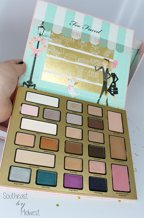 Too Faced Chocolate Shop Eye Shadow Palette Opened || Southeast by Midwest #beauty #bbloggers #toofaced