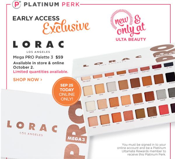 Start Fall with Ulta New Releases: Lorac Mega Pro Palette 3 || Southeast by Midwest #beauty #bbloggers #ultabeauty #lorac