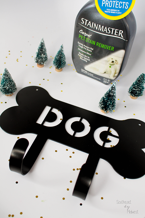 DIY Gift Basket: New Pet Edition Hanger || Southeast by Midwest #CarpetProtect #ad #cbias