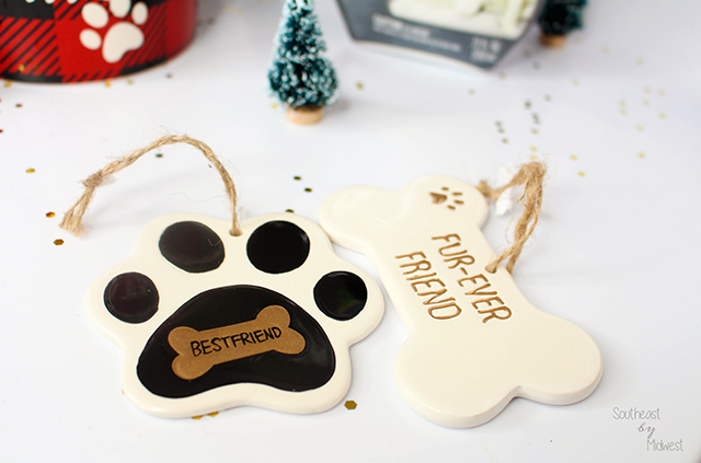 DIY Gift Basket: New Pet Edition Ornament || Southeast by Midwest #CarpetProtect #ad #cbias