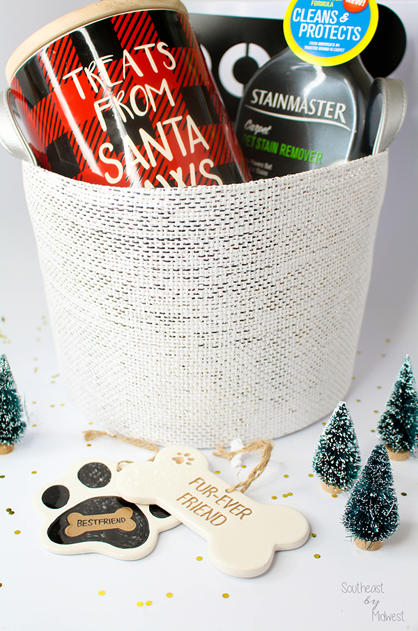 DIY Gift Basket New Pet Edition || Southeast by Midwest #CarpetProtect #ad #cbias