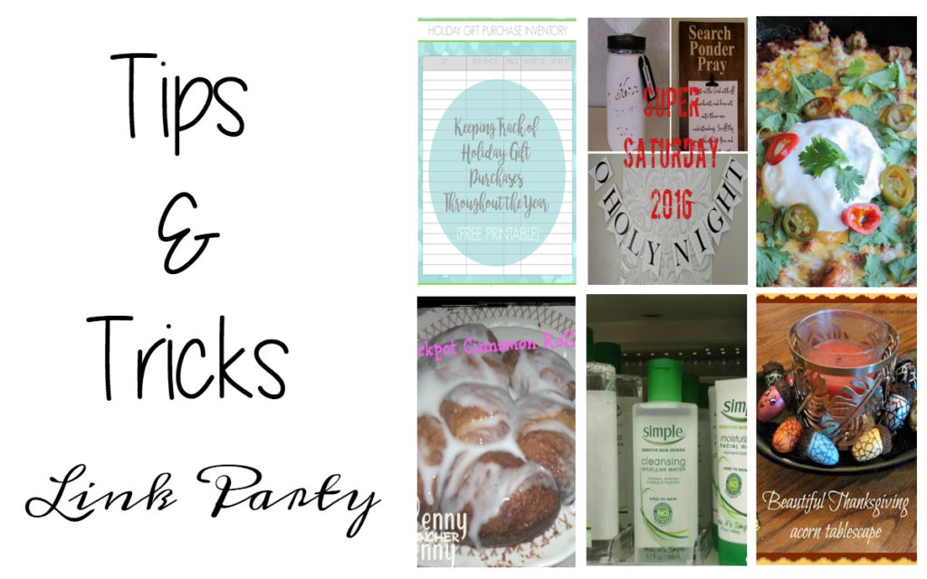 Tips and Tricks Link Party #92