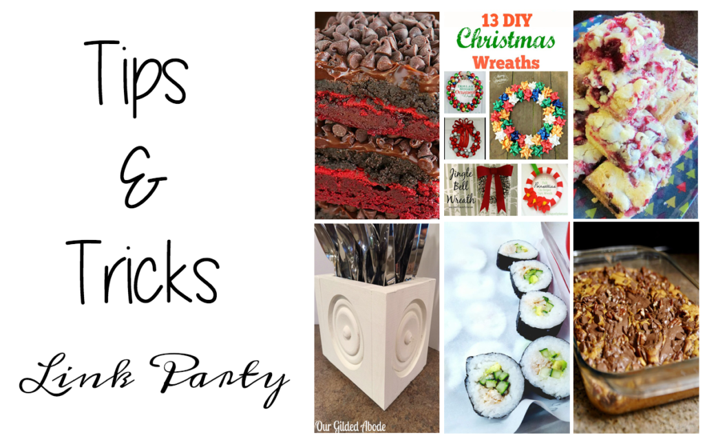 Tips and Tricks Link Party #95