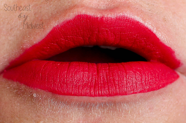 Beauty Review   Too Faced Melted Matte Liquid Lipstick in Candy Cane Lip Swatch    Southeast by Midwest #beauty #bbloggers #toofaced