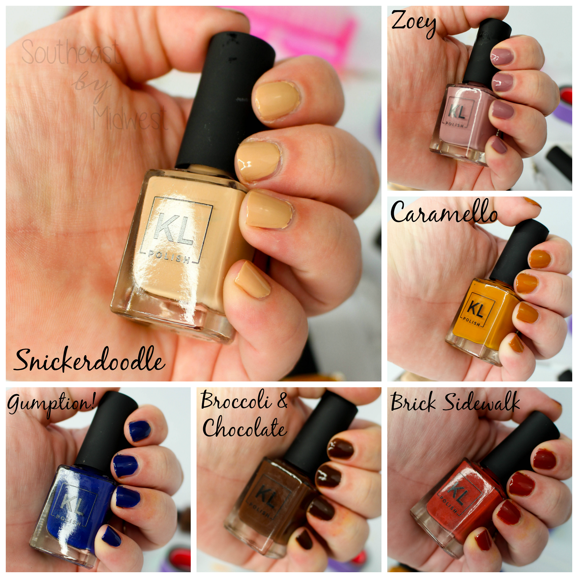 KL Polish Review + Swatches Swatches || Southeast by Midwest #beauty #bbloggers #klpolished #nails
