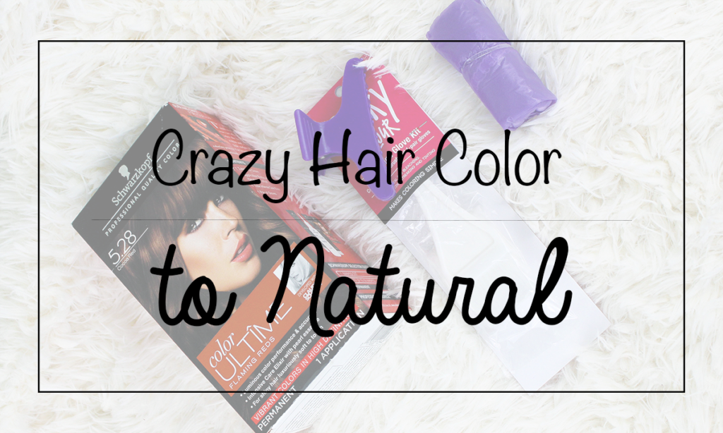 How to Go from Crazy Hair Colors Back to Natural Colors