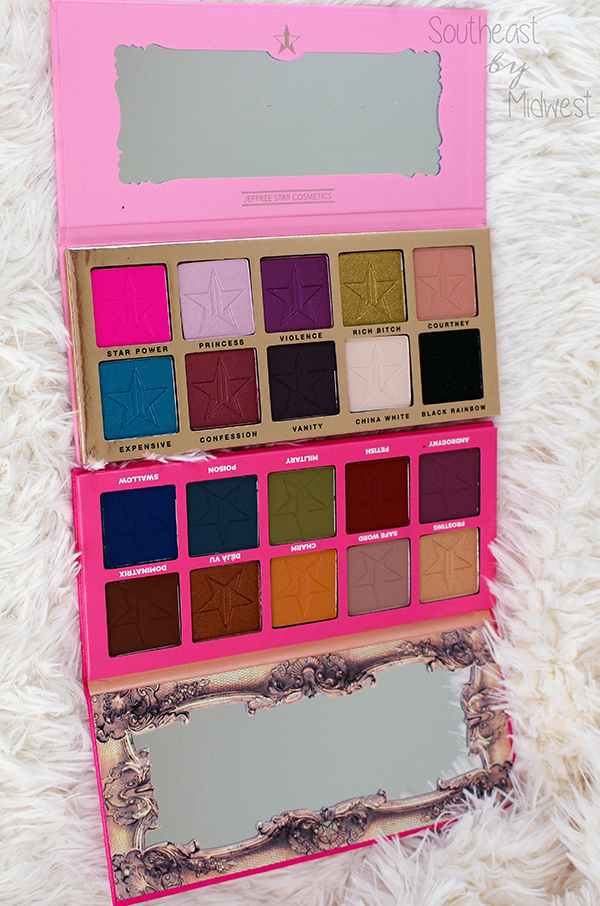Jeffree Star Eye Shadow Palettes Review || Southeast by Midwest #beauty #bbloggers #jeffreestar