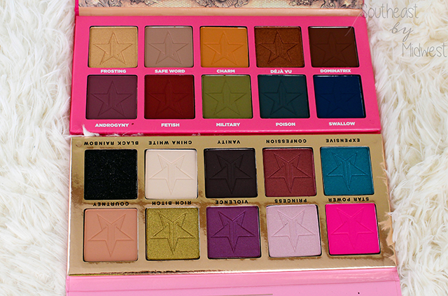 Jeffree Star Eye Shadow Palettes Review Shades || Southeast by Midwest #beauty #bbloggers #jeffreestar