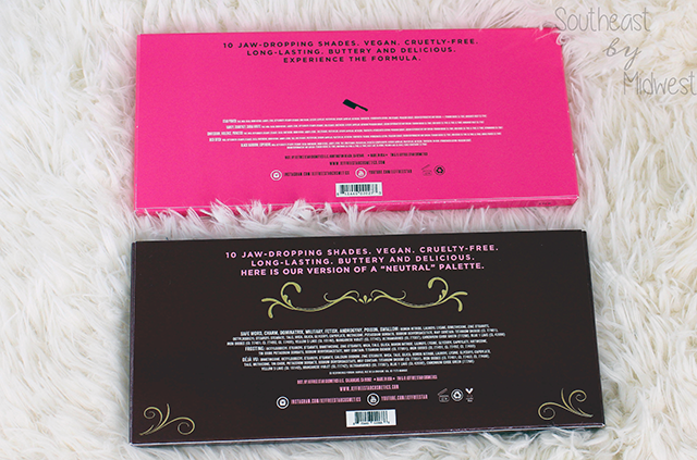 Jeffree Star Eye Shadow Palettes Review Unit Carton Back || Southeast by Midwest #beauty #bbloggers #jeffreestar