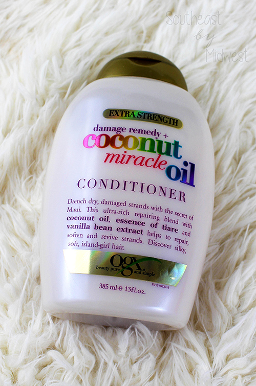 OGX Coconut Miracle Oil Conditioner || Southeast by Midwest #beauty #bbloggers #ogx #ogxbeauty #coconutoil