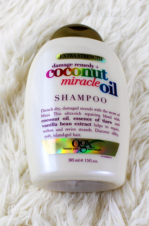 OGX Coconut Miracle Oil Shampoo || Southeast by Midwest #beauty #bbloggers #ogx #ogxbeauty #coconutoil