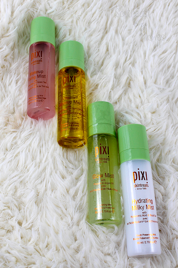 Pixi Skintreats Beauty Mists || Southeast by Midwest #beauty #bbloggers #beautyguru #pixibeauty #multimisting