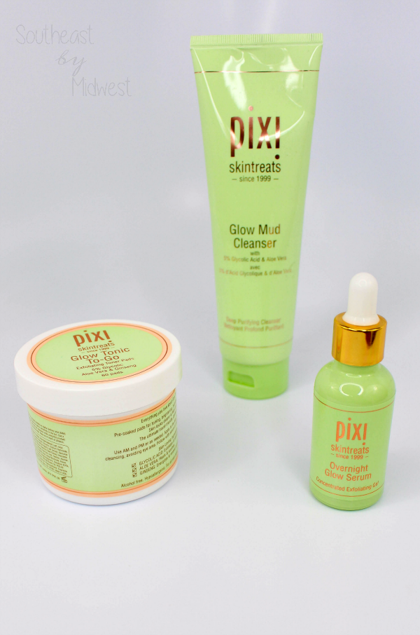 Pixi Glycolic Glow Products || Southeast by Midwest #beauty #bbloggers #skincare #PixiGlow #Pixibeauty