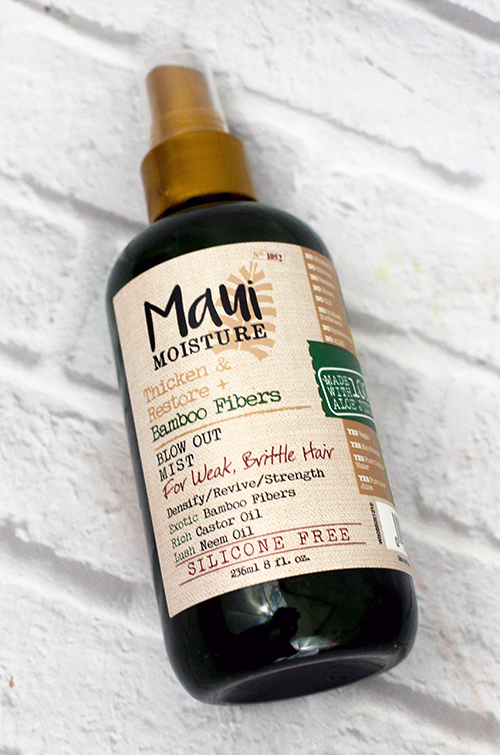 Maui Moisture Thicken and Restore Hair Products Blow Out Mist || Southeast by Midwest #beauty #bbloggers #mauimoisture
