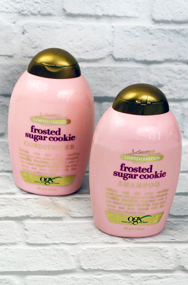 OGX Frosted Sugar Cookie Shampoo and Conditioner Review || Southeast by Midwest #ogx #ogxbeauty #OGXxKandeeHoliday #beauty #bbloggers