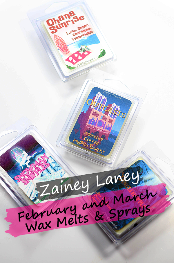 Zainey Laney February and March Wax Melts Plus Sprays || Southeast by Midwest #zaineylaneywax #waxmelts