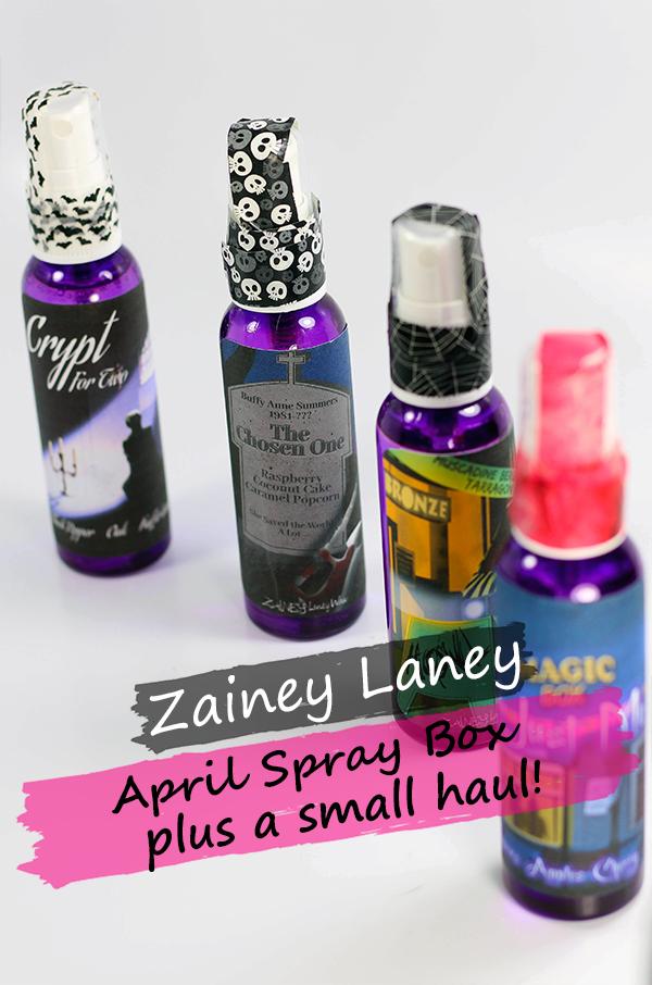Zainey Laney April Sprays and Haul || Southeast by Midwest #zaineylaneywax #buffythevampireslayer