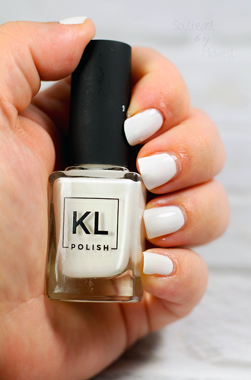 KL Polish Black and White Nail Polish Review Paper Snow || Southeast by Midwest #klpolished #manimonday #beauty #bbloggers