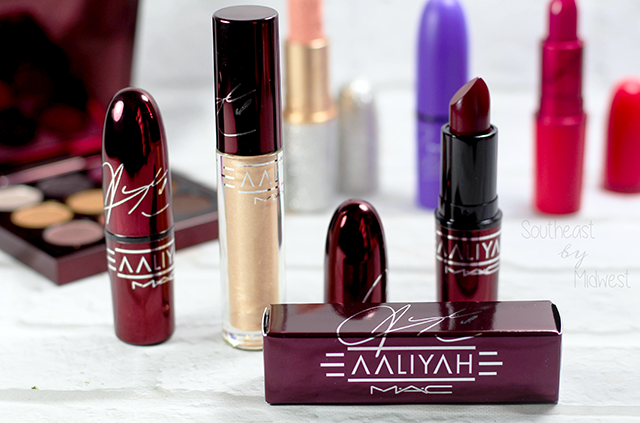 MAC Aaliyah Lipsticks and Lipglass Review and Swatches About MAC || Southeast by Midwest #AaliyahforMac #maccosmetics #beauty #bbloggers #bblogger
