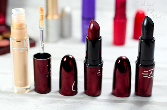 MAC Aaliyah Lipsticks and Lipglass Review and Swatches Review || Southeast by Midwest #AaliyahforMac #maccosmetics #beauty #bbloggers #bblogger