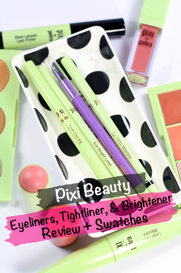 Pixi Eyeliners Review and Swatches || Southeast by Midwest #pixibeauty #prsample #beauty #bblogger #bbloggers
