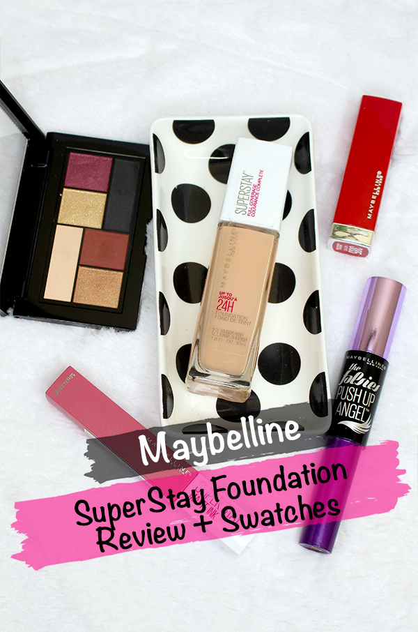 Maybelline SuperStay Foundation Review and Swatches || Southeast by Midwest #beauty #bbloggers #maybelline #superstayfoundation