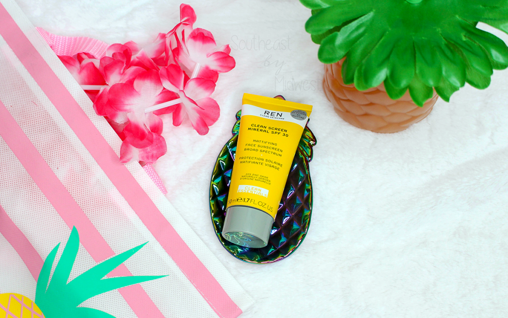 REN Clean Screen Mineral SPF 30 Sunscreen Review Featured Image    Southeast by Midwest #beauty #bbloggers #RENCleanSkincare #RENPartner