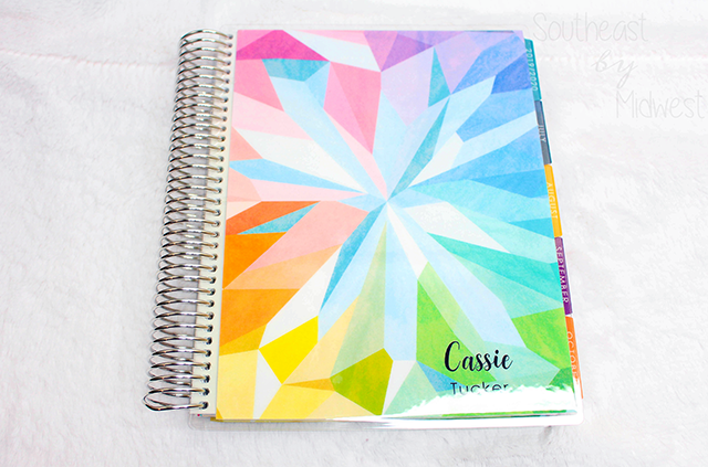 2019 - 2020 Hourly Erin Condren Life Planner Review Front Cover || Southeast by Midwest #erincondren #lifeplanner #eclifeplanner