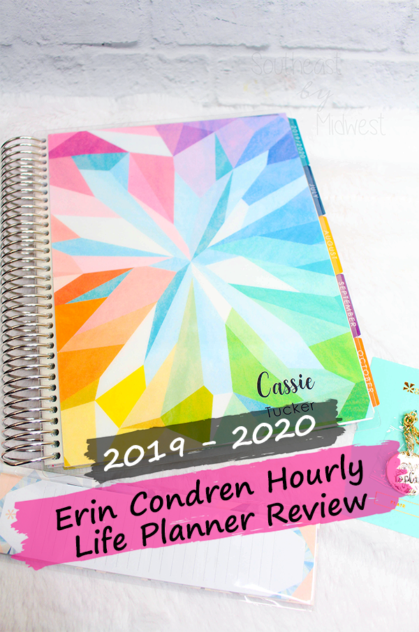 2019 - 2020 Hourly Erin Condren Life Planner Review || Southeast by Midwest #erincondren #lifeplanner #eclifeplanner