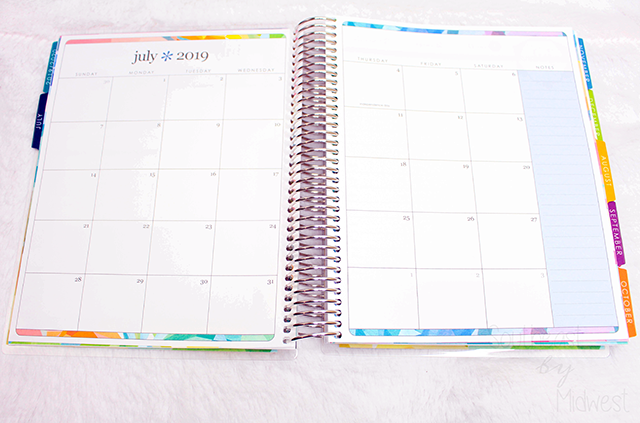 2019 - 2020 Hourly Erin Condren Life Planner Review Monthly Layout || Southeast by Midwest #erincondren #lifeplanner #eclifeplanner