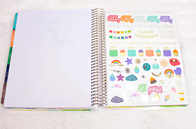 2019 - 2020 Hourly Erin Condren Life Planner Review Stickers || Southeast by Midwest #erincondren #lifeplanner #eclifeplanner