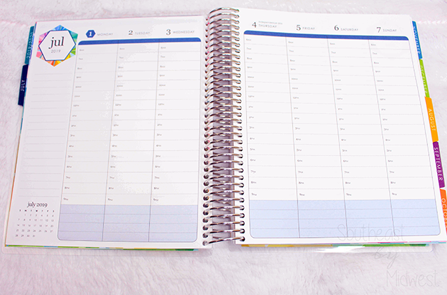 2019 - 2020 Hourly Erin Condren Life Planner Review Weekly Layout || Southeast by Midwest #erincondren #lifeplanner #eclifeplanner