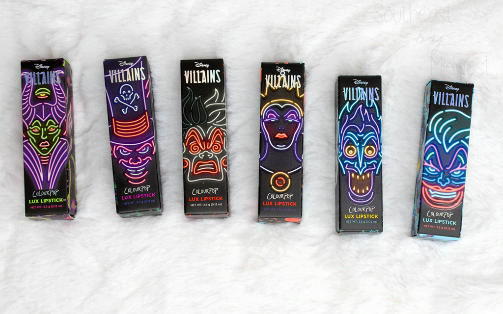 ColourPop Disney Villains Lux Lipsticks Review Featured Image || Southeast by Midwest #beauty #bbloggers #colourpop #colourpopme #disneyvillainsandcolourpop