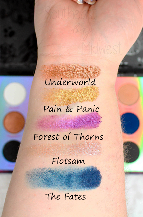 ColourPop Misunderstood Palette Review Second Row Swatch || Southeast by Midwest #beauty #bbloggers #colourpopcosmetics #disneyvillainsandcolourpop #disney