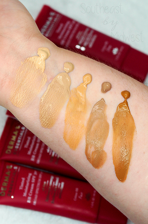 Derma e Tinted Moisturizer Review Swatches || Southeast by Midwest #beauty #bbloggers #dermae #prsample