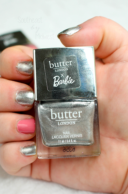 butter LONDON x Barbie Nail Polish Set Diamond Geezer Swatch || Southeast by Midwest #beauty #bbloggers #prsample #butterLONDON #butterLONDONBarbie #butterLONDONbesties @butterlondon