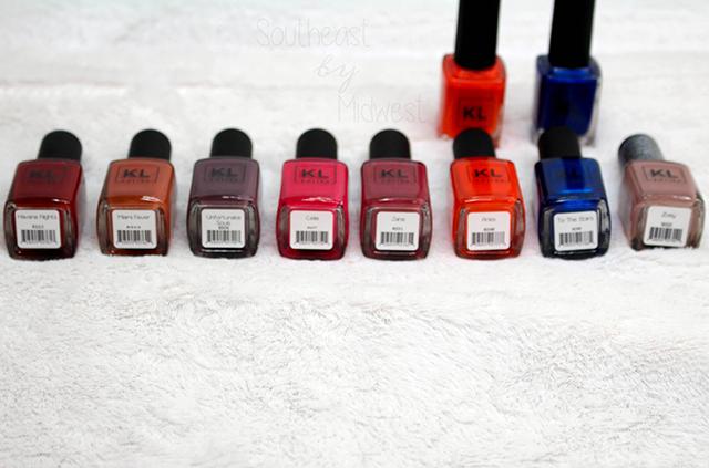 Final KL Polish Haul Labels    Southeast by Midwest #beauty #bblogger #klpolish #klpolished #manimonday