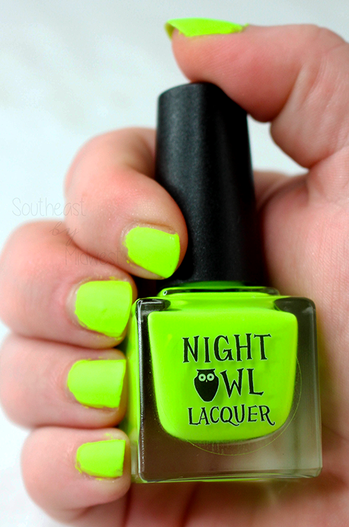 Night Owl Lacquer Radioactive Nail Polish Matte Top Coat || Southeast by Midwest #beauty #bbloggers #manimonday #nightowllacquer #nailpolish